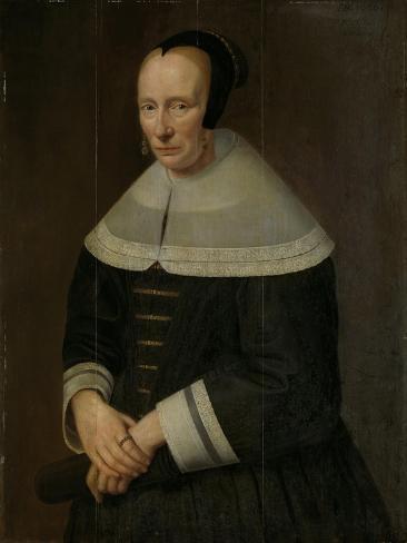 Portrait of a Woman, Godaert Kamper. Art Print
