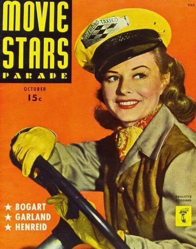 Goddard, Paulette - Movie Stars Parade Magazine Cover 1940's Masterprint
