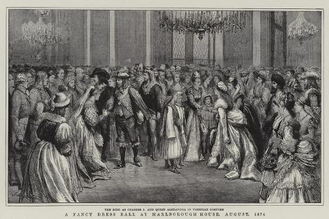A Fancy Dress Ball at Marlborough House, August 1874 Giclee Print