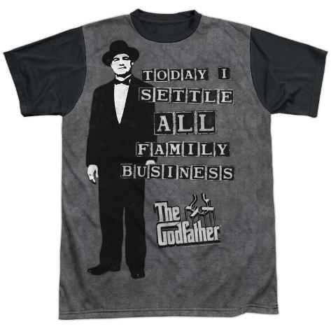 Godfather- Family Business Settled Black Back T-Shirt