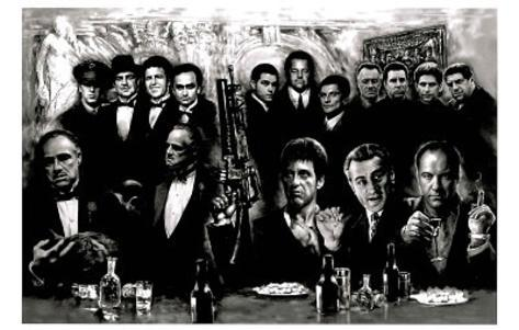 Godfather Goodfellas Scarface Sopranos Make Way for the Bad Guys Movie Poster Print Giant Poster