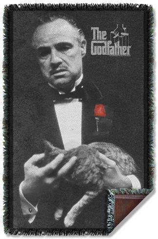 Godfather - Poster Woven Throw Throw Blanket