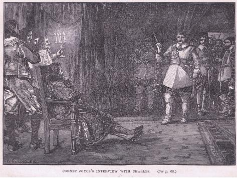 Cornet Joyce's Interview with Charles I Ad 1647 Stampa giclée