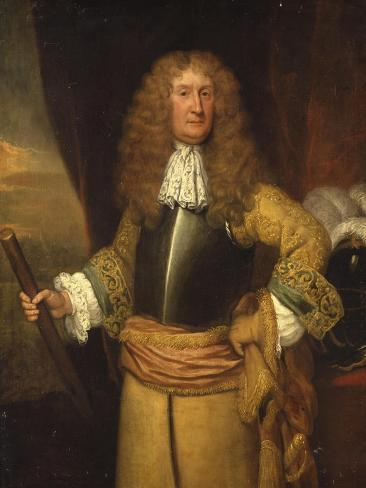 Henry, 3rd Lord Arundell of Wardour, Holding a Baton as Master of the Horse, C.1680 Impressão giclée