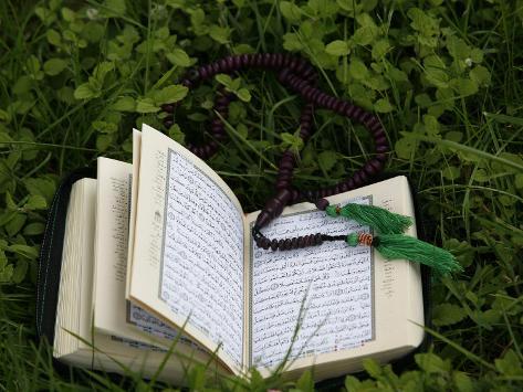 Koran and Prayer Beads, Chatillon-Sur-Chalaronne, Ain, France, Europe Photographic Print