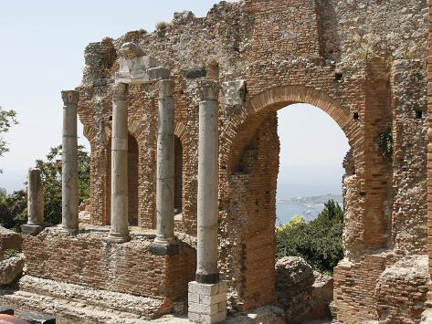 Taormina Theater, Taormina, Sicily, Italy, Europe Photographic Print