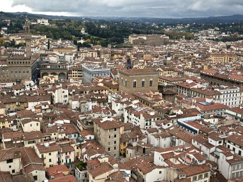 View of Florence from the Dome of Filippo Brunelleschi, Florence, UNESCO World Heritage Site, Tusca Photographic Print