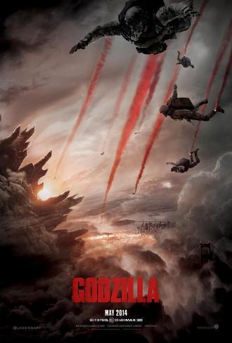 Godzilla Double Sided Advance Movie Poster Double-sided poster