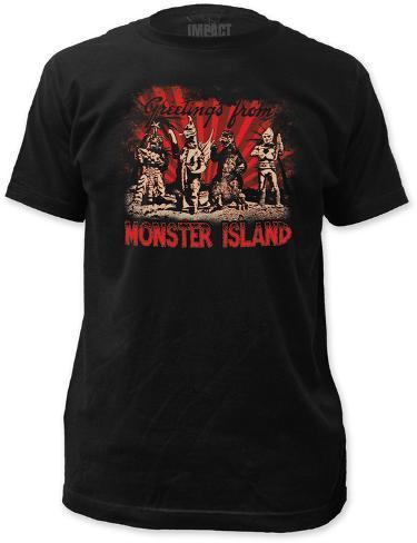 Godzilla - Monster Island (Slim Fit) T-Shirt