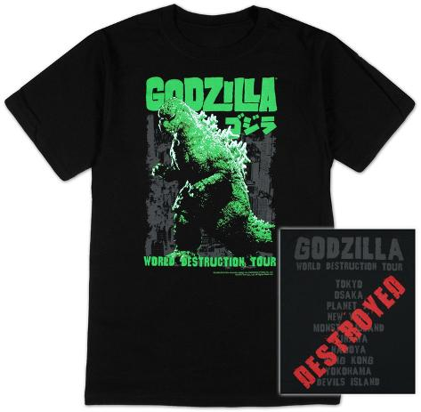 Godzilla - World destruction tour T-Shirt