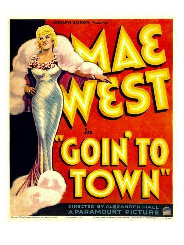 Goin' to Town, Mae West on Window Card, 1935 Foto