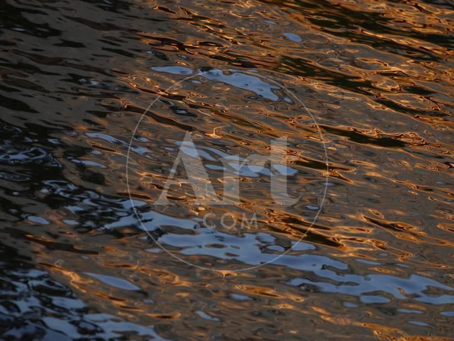 7f143305498f1 Gold and Blue Sunlight Reflecting on Dark Rippling Water Photographic Print  at AllPosters.com