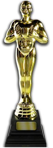 Gold Award Lifesize Standup Figura de cartón