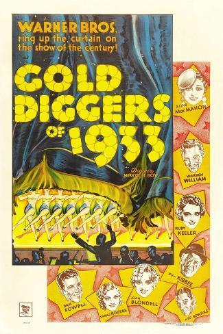 Gold Diggers 1934 Gicléetryck