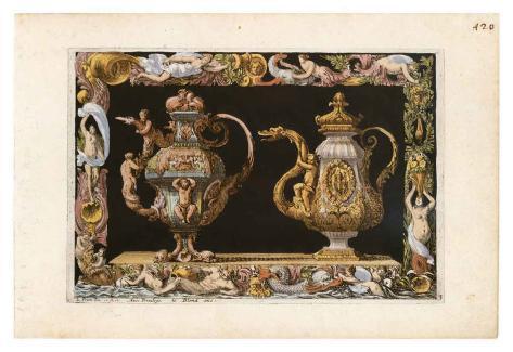 Gold Urns Art Print