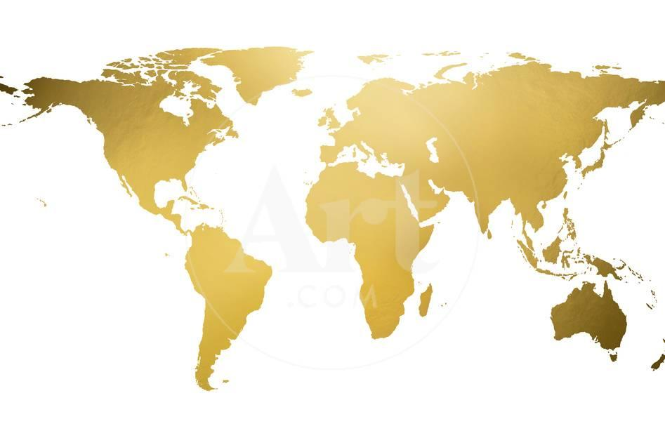 Gold world map gold foil prints at allposters privacy preference centre gumiabroncs Images