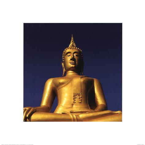 Golden Buddha Stampa artistica