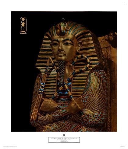Golden Effigy of King Tutankhamen, 14th Art Print