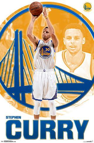 Golden State Warriors- Stephen Curry 2015 Pôster