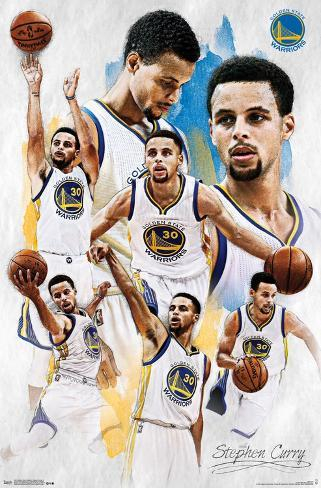 Golden State Warriors - Stephen Curry 2015 Pôster