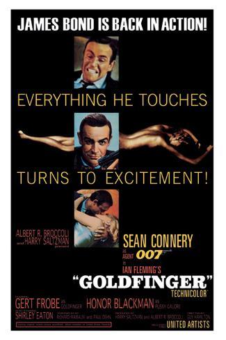 Goldfinger-Excitement Impressão em tela esticada