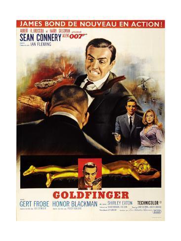 Goldfinger, Top from Left: Harold Sakata (Back to Camera), 1964 Impressão giclée