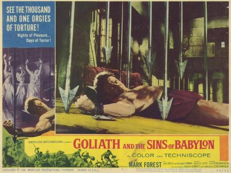 Goliath and the Sins of Babylon, 1964 Art Print