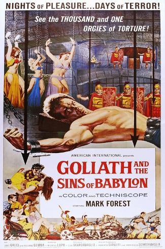 Goliath and the Sins of Babylon Art Print