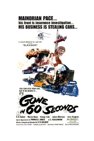 Gone in 60 Seconds, 1974 Premium Giclee Print