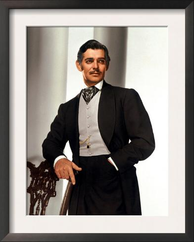 Gone with the Wind, Clark Gable, 1939 Framed Art Print