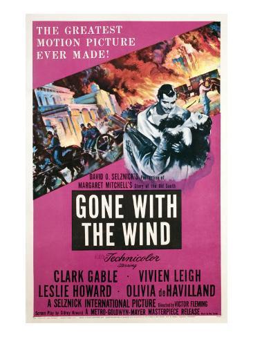Gone with the Wind, Clark Gable, Vivien Leigh, 1939 Fotografía
