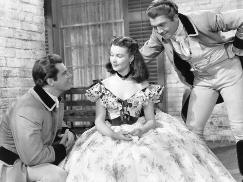 Gone with the Wind, from Left: Fred Crane, Vivien Leigh, George Reeves, 1939 Photo