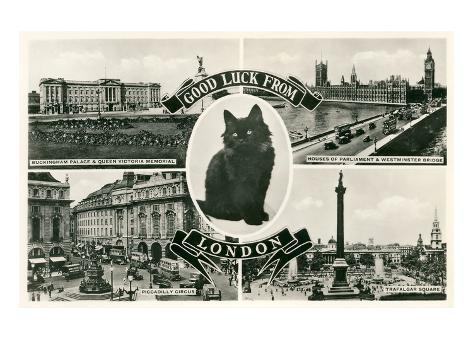 Good Luck from London, Scenes Art Print