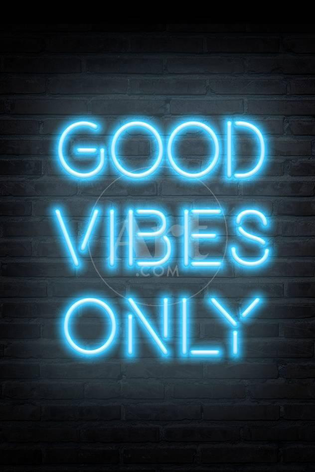 Good Vibes Only Blue Neon Prints At Allposters Com
