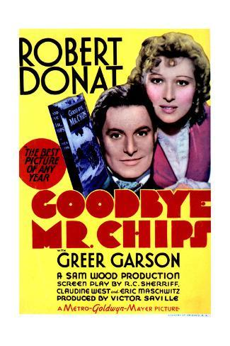 Goodbye, Mr. Chips - Movie Poster Reproduction Art Print
