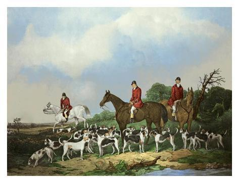 The Old Berkshire Hunt Art Print