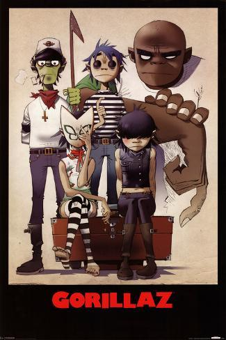 Gorillaz – All Here Póster