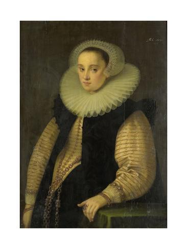 Portrait of Hortensia Del Prado (Died), Wife of Jean Fourmenois Art Print