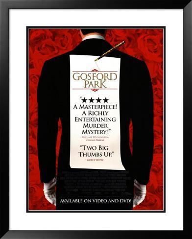 Gosford Park Framed Poster