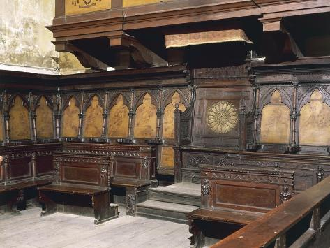 Gothic Wooden Choir, Cathedral of the Assumption Blessed Virgin Giclee Print