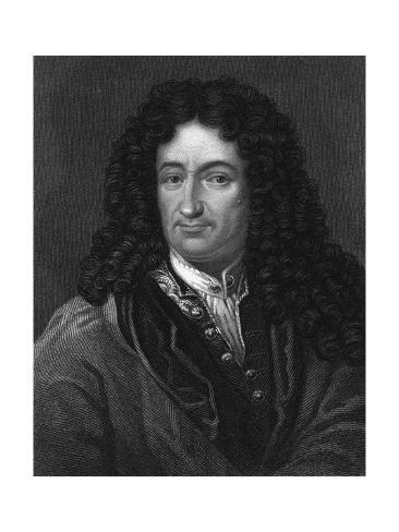 Gottfried Von Leibniz, German Mathematician and Philosopher Stampa giclée
