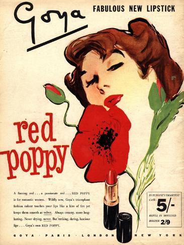 Goya Lipstick Make-Up, UK, 1950 Giclee Print