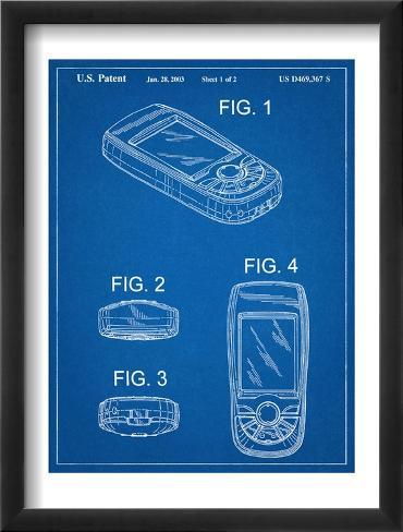 GPS Device Patent Framed Art Print