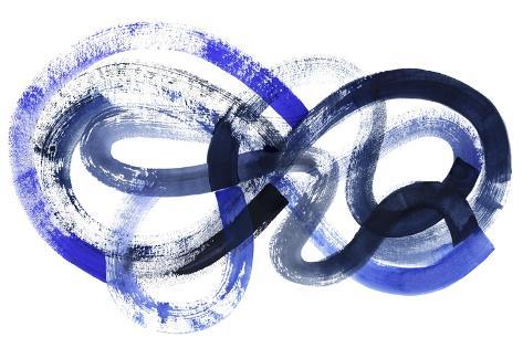 Blue Kinesis I Art Print