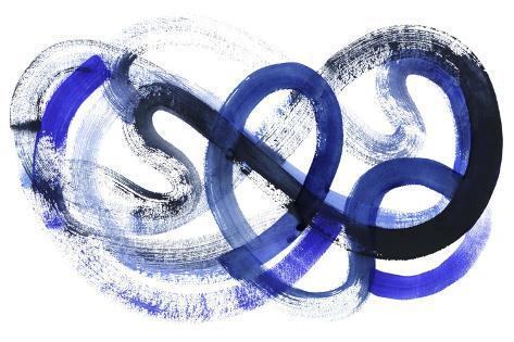 Blue Kinesis II Art Print