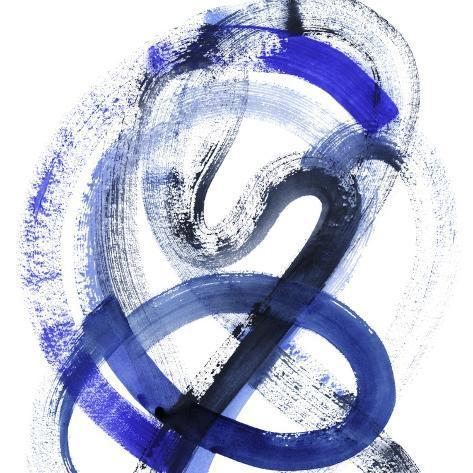 Blue Kinesis III Art Print