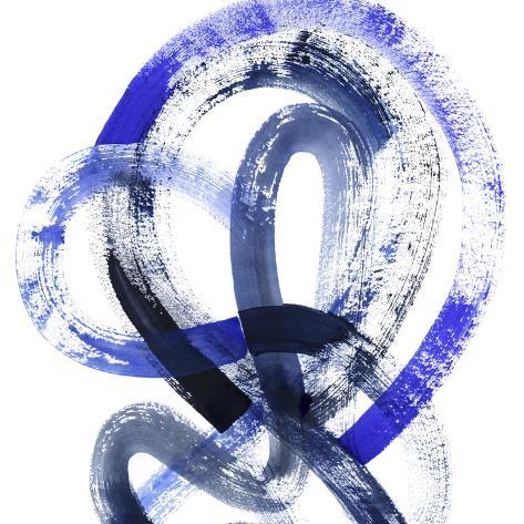 Blue Kinesis IV Art Print