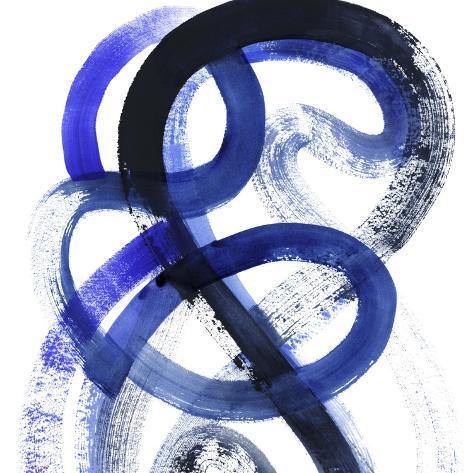 Blue Kinesis VI Art Print