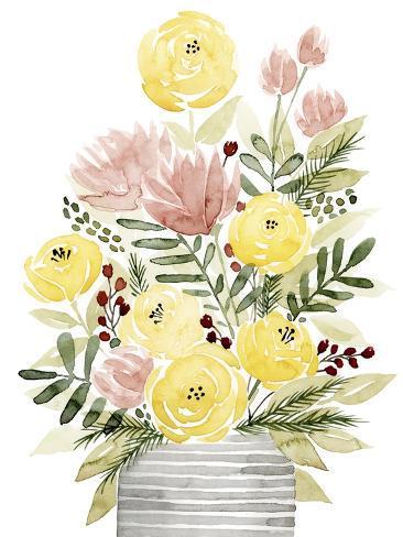 Blush Bouquet II Stampa artistica