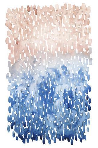 Coral Cascade I Art Print